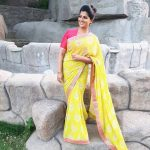 Varalaxmi Sarathkumar, saree, yellow dress, tamil actress, saree love