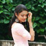 Varsha Bollamma, shy, pink dress, tamil actress
