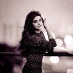 Aathmika, recent, actress, black & white