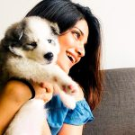 Aathmika, smile, pet animal, dog
