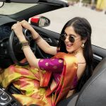 Adah Sharma, Bypass Road Actress, saree, car