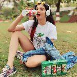 Adah Sharma, Charlie Chaplin 2 Actress, 7up ad, drinking