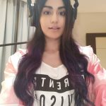 Adah Sharma,  head phone, handsome
