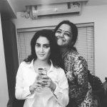 Aditi Ravi, black and white, friend