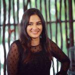 Aditi Ravi, black dress, cute