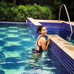 Andrea Jeremiah, bikini, glamour, swimming pool