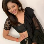 Anjali, smile, black dress, actress