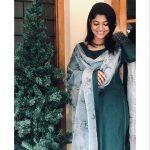 Aparna Balamurali, green chudi, homely girl, smile