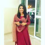 Aparna Balamurali, red chudi, home
