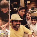 Arun Vijay, collage, birthday, family