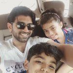 Arun Vijay, cooling glass, son, daughter