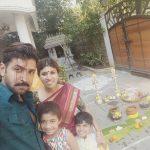 Arun Vijay, pongal, selfie, family