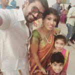 Arun Vijay, selfie, wife, son, daughter