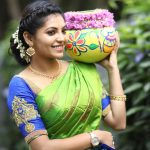 Athulya Ravi, green saree, Good