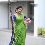Athulya Ravi, pattu saree, sugarcan, lovely
