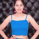 Bindu Madhavi, blue inner, stunning