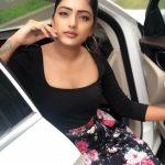 Eesha Rebba, Savyasachi Actress, car, flowers
