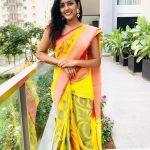 Eesha Rebba, yellow saree, treditional