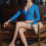 Izabelle Leite, Mr. Majnu Actress, blue dress, rare