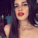 Izabelle Leite, red lipsstick