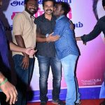 Karthi, kiss, stage, fans