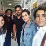 Karthi, rj vignesh, hindi actress, airport