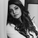 Manjima Mohan, black & white, BW, photoshoot