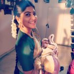 Manjima Mohan, saree, traditional look, children