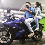 Megha Akash, R15 bike, str, simbu