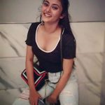 Megha Chowdhury, Varma Heroine,  black t shirt, top view, glamour