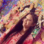 Megha Chowdhury, Varma Heroine, temple, festivel, god