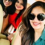 Meghana Raj, Muniratna Kurukshetra Actress, friends, selfie