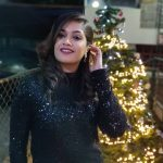 Meghana Raj, night, black dress