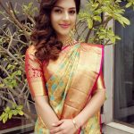 Mehreen Kaur Pirzada, wallpaper, saree, traditional
