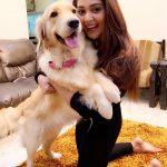 Natasha Doshi, Kothala Rayudu Heroine, dog, black dress, pet lover