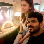 Nayanthara, Vignesh Shivan, sit, flight, couple, tamil celebrity