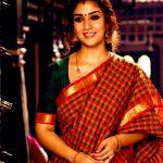 Nayanthara, movie, viswasam, saree, nayantara