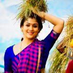 Nayanthara, pullu kattu, saree, viswasam, tamil actress