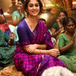 Nayanthara, saree, traditional dress, viswasam