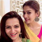 Nayanthara, selfie, saree, Dhivyadharshini, tamil actress