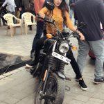 Nidhhi Agerwal, Ikka Heroine, bike, event