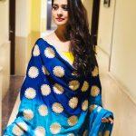 Payal Rajput, Marriage Palace Actress, saree, loose hair, winsome