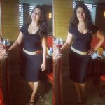 Poonam Bajwa, black dress, fit, attractive
