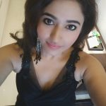 Poonam Bajwa, black dress, top view