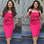 Poonam Bajwa, pink dress, dazzling