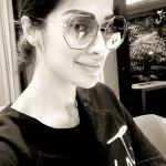 Raai Laxmi, selfie, black & white