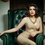 Shraddha Das, Udgharsha Actress, golden dress, lovable