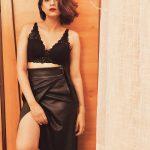 Shraddha Das, black dress, glamour