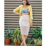 Shraddha Das, ,modern dress, plants, brown hair