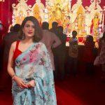 Shraddha Das, saree, temple, new look
